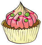 Cupcake. Illustration of an isolated cupcake Stock Image