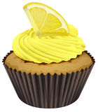 Cupcake. Illustration of a cupcake on a white background Stock Image