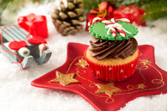 cupcake εορταστικός Στοκ Φωτογραφίες