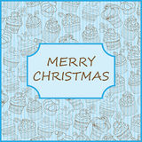 Κάρτα Χριστουγέννων cupcake Στοκ Εικόνες