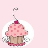 cupcake αναδρομικός Στοκ εικόνα με δικαίωμα ελεύθερης χρήσης