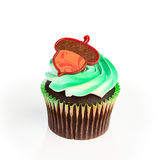 Cupcake and Acorn on Top Stock Photos