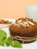 Cupcake almonds Stock Photo