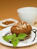 Cupcake almonds Royalty Free Stock Photo