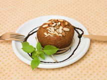 Cupcake almonds Royalty Free Stock Image
