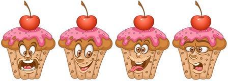 cupcake Bäckerei- und Gebäckkonzept vektor abbildung