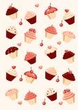 Cupcake background. Colorful cupcake background  illustration Royalty Free Stock Image