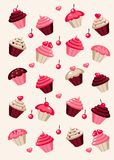 Cupcake background Stock Photos