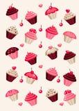 Cupcake background. Cupcake retro background  illustration Stock Photos