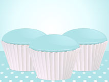 Cupcake background stock illustration