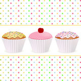 Cupcake background Royalty Free Stock Images