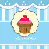Cupcake background Stock Photography