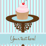 Cupcake background card Royalty Free Stock Photography