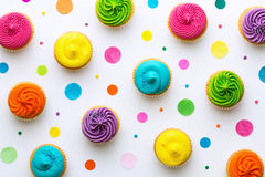 Cupcake background Royalty Free Stock Photos
