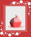 Cupcake background. Image representing an cupcake on an abstract background vector illustration