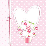 Cupcake background Stock Images