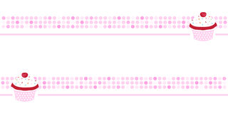 Cupcake background, pink wallpaper, banner Royalty Free Stock Photography