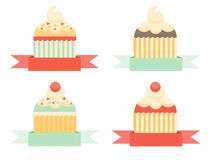 Cupcake Badges Stock Photo