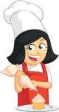 Cupcake Baker Mascot Stock Foto's