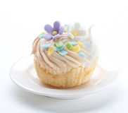 Cupcake bakery with icing on top isolated  Stock Photo