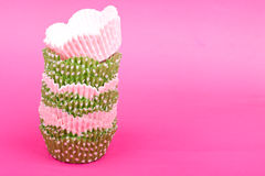 Cupcake baking cups Stock Image
