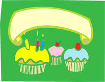 Cupcake Banner Royalty Free Stock Photography