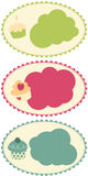 Cupcake Banners. Cute delicious colorful cupcake banners illustrated. (Vector file included Stock Images