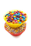 Cupcake behandelt Stock Fotografie