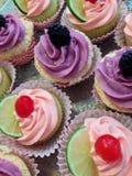 Cupcake behandelt Stock Foto's