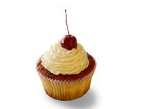 Cupcake with beige cream. Stock Photography