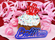 Cupcake for the Best Mom Royalty Free Stock Photography