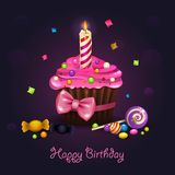 Cupcake birthday Royalty Free Stock Photography