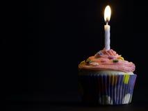 Cupcake on black Royalty Free Stock Image
