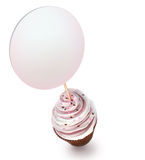 Cupcake with a blank sign Royalty Free Stock Photography