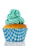 Cupcake in blauw en groen Stock Afbeelding