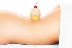 Cupcake and body Royalty Free Stock Images
