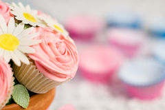 Cupcake bouquet. Picture of cupcakes made into a cupcake bouquet royalty free stock images
