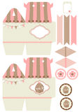Cupcake box template Royalty Free Stock Photography