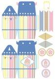 Cupcake box template Stock Images