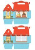 Cupcake box template Stock Image