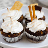 Cupcake brown Royalty Free Stock Images