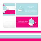 Cupcake business card Stock Images