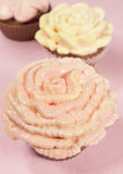 Cupcake with butter-cream Royalty Free Stock Images