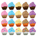 Cupcake with butter cream vector Royalty Free Stock Photos