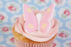 Cupcake with butterfly Stock Image