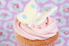 Cupcake with butterfly Royalty Free Stock Photography
