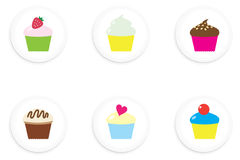 Cupcake Buttons Royalty Free Stock Photography