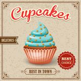 Cupcake cafe poster royalty free illustration