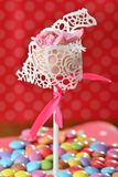 Cupcake cake pop Stock Images