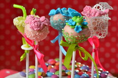 Cupcake cake pops Royalty Free Stock Photos